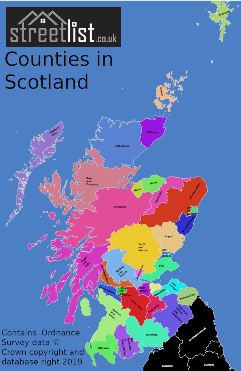 counties in Scotland