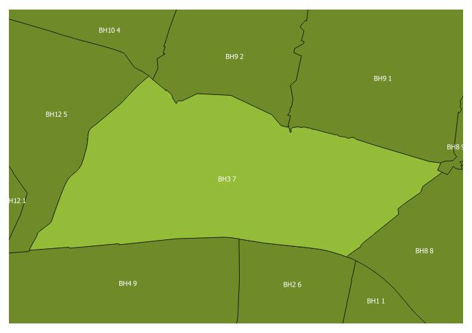 Map of the BH3 7 and surrounding sectors