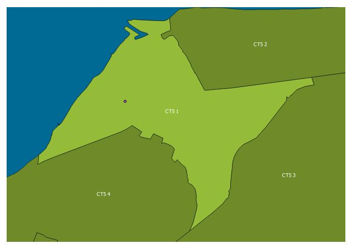 Map of the CT5 1 and surrounding sectors