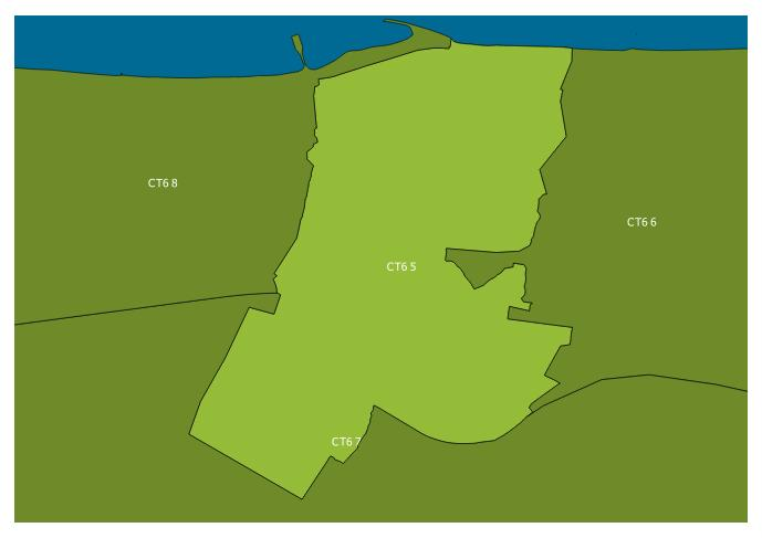 Map of the CT6 5 and surrounding sectors