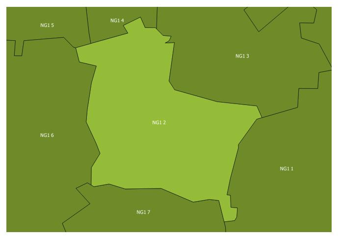 Map of the NG1 2 and surrounding sectors