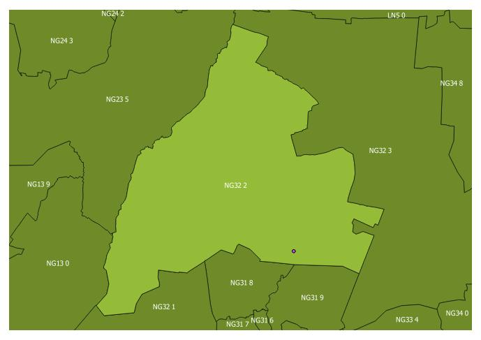 Map of the NG32 2 and surrounding sectors